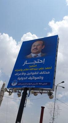 Botschafter Ahmed Ali Salih, der mit seiner Familie von VAE gefangen gehalten wurde.