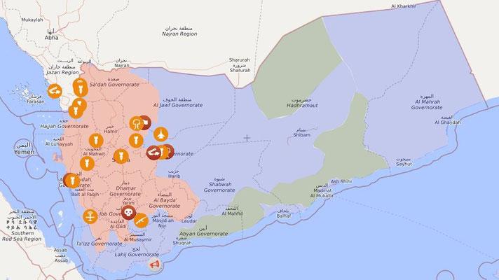 Jemen-Live-Map: 31.03.2020
