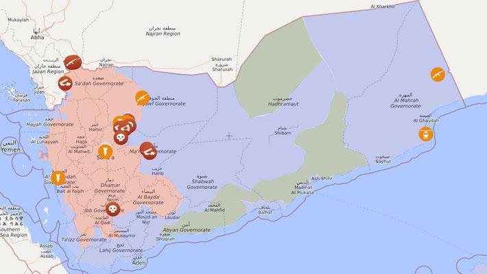 Jemen-Live-Map: 01.03.2020