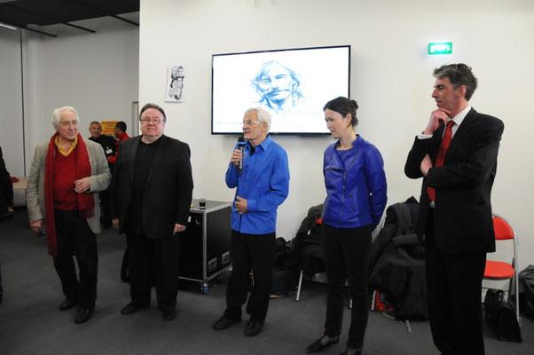 Avec Jacques Kérampran, Robert Boucher, Gaëlle Abily & Brieg Haslé-Le Gall - Révoltes & Combats d'espoir © Jacques Bocoyran