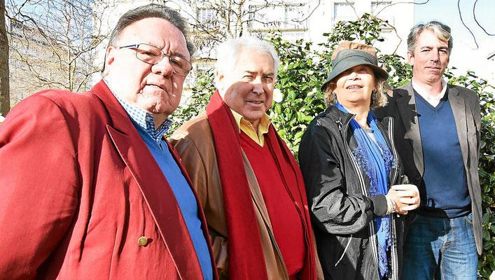 Avec Jacques Kérampran, Josseline Kerbonne & Brieg Haslé-Le Gall © Le Télégramme