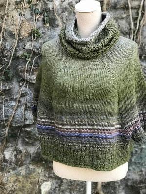 Linda Allegra Design Bat Sleeve Sweater