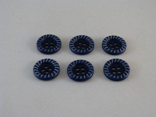 Steinnuss - dunkles Blau