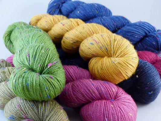Merino Tweed handgefärbt