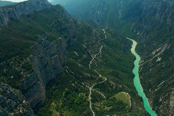 Gorges du Verdon, vue du parapente