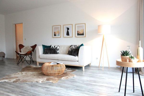 Home Staging - Wohnzimmer nachher Buchholz Tostedt die kammerherrin