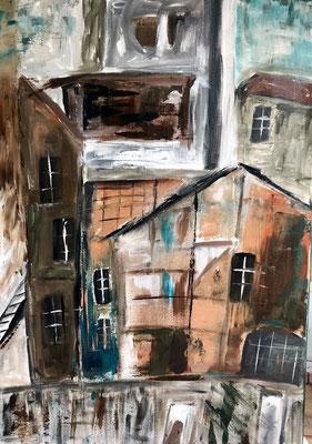 Das Dorf / 50 x 70 cm / 2016