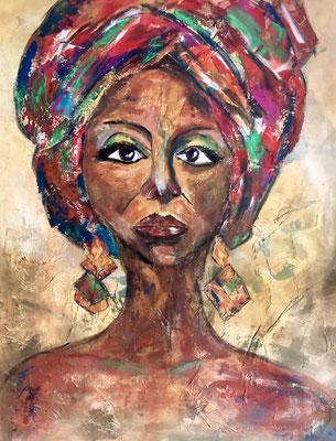 Afrikanische Schönheit / 80 x 100 cm / 2019