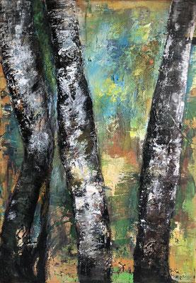 Wald 1 / 50 x 70 cm / 2015