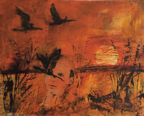 Zugvögel / 50 x 40 cm / 2014