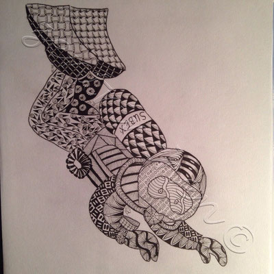 Zentangle inspired art / Z.I.A. / Zentangle Taucher