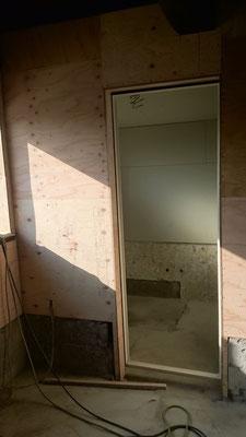 浴室の形ができてきました。