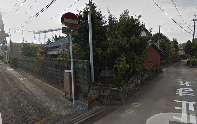 施工前、朽ち果てる前のブロック塀
