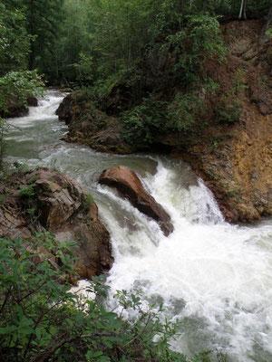 Быстринский район.  Водопад на реке Ковавля.