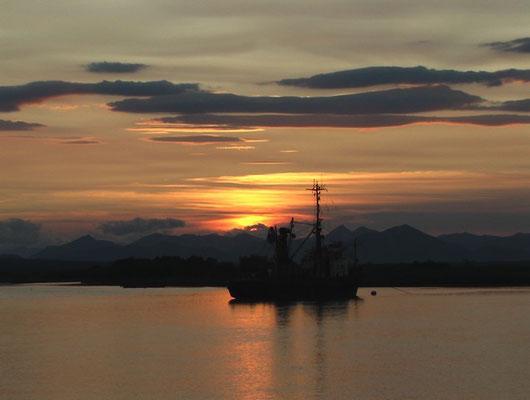 Закат на реке Хайлюля.