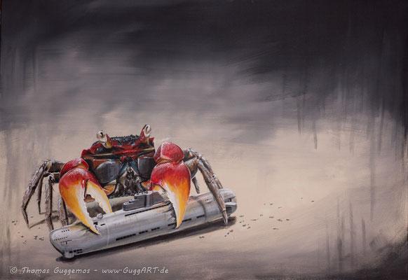DRUCKAUSGLEICH - Acrylmalerei auf Leinwand 100x70cm (acrylics on canvas), 2012
