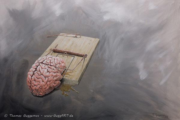 DIE GEDANKEN SIND FREI - Acrylmalerei auf Leinwand 100x70cm (acrylics on canvas), 2013