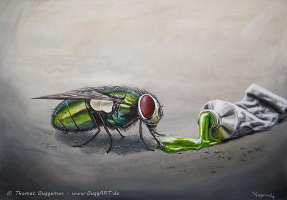 EAT GREEN - Acrylmalerei auf Leinwand 100x70cm (acrylics on canvas), 2013