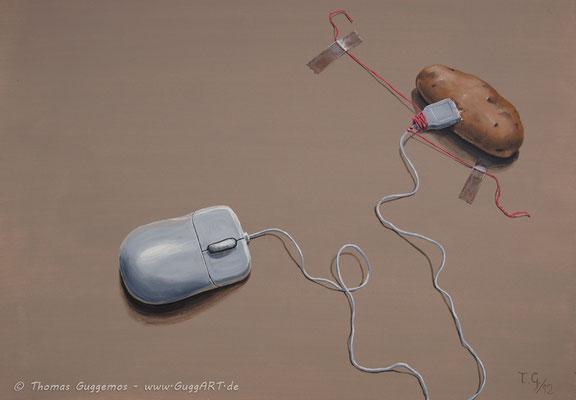 DOPPELKLICK - Acrylmalerei auf Leinwand 100x70cm (acrylics on canvas), 2012