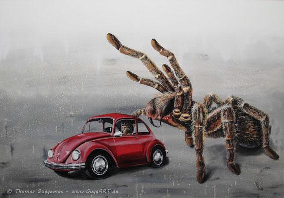 VOLLKASKO - Acryl-/Ölmalerei auf Holz 100x70cm (acrylics/oil on board), 2011