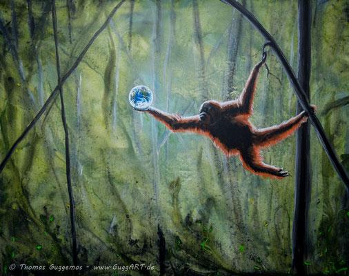 FRÜCHTE DES LEBENS - Acrylmalerei auf Leinwand 100x80cm (acrylics on canvas), 2014