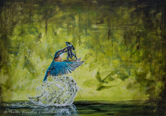 TAUCHERKRANKHEIT - Acrylmalerei auf Leinwand 100x70cm (acrylics on canvas), 2014
