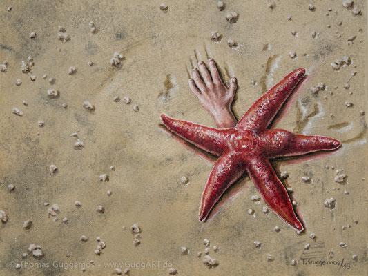 Meeresfrüchte - Acrylgemälde