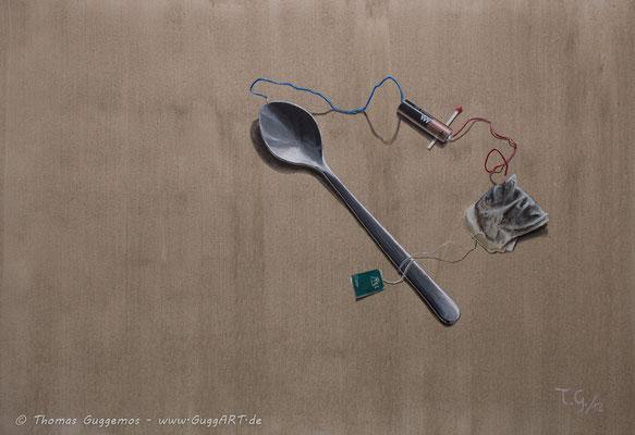 RECYCLING - Acrylmalerei auf Leinwand 100x70cm (acrylics on canvas), 2012
