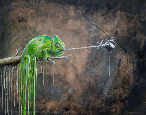 ARTENSTERBEN - Acrylmalerei auf Leinwand 100x80cm (acrylics on canvas), 2015