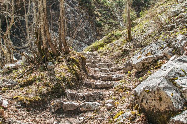 Der Weg hinauf zur Höllentalangerhütte