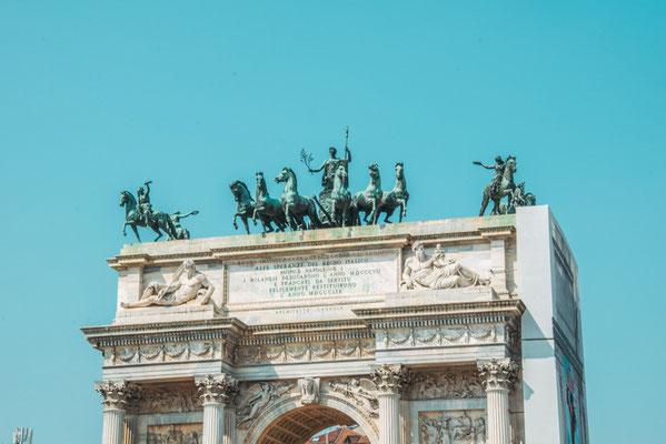 Simplonpark mit dem Arco della Pace