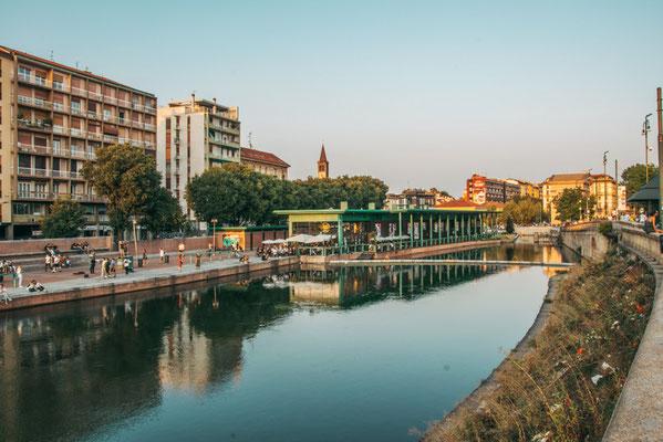 Szeneviertel Navigli in Mailand