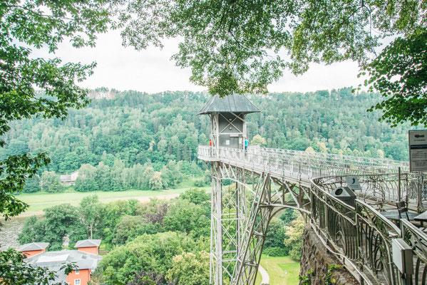 Panorama Aufzug in Bad Schandau