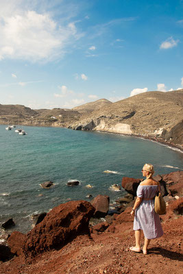 Red Beach auf Santorini