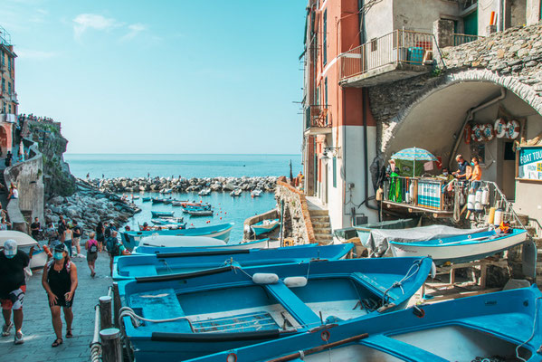 Riomaggiore in der Cinque Terre