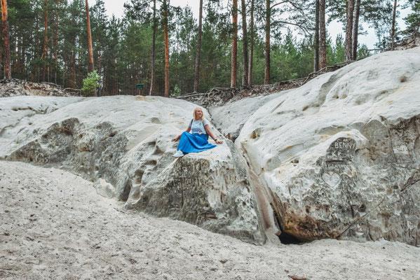 Sandsteinhöhlen im Heers