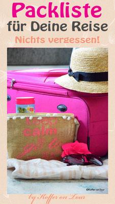 Packliste Reise