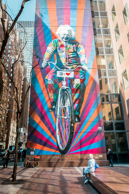 Street Art in New York - Einstein / Genius