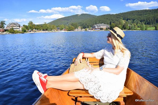 Eine Bootsfahrt auf dem Titisee