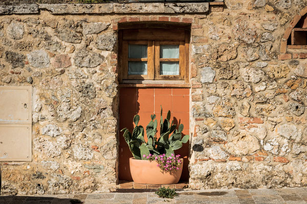Monteriggioni, Toskana, Italien,
