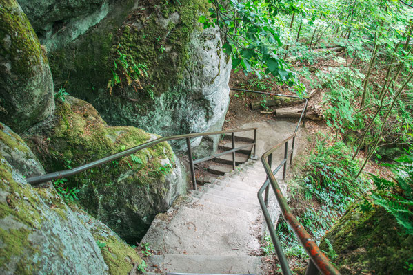 Der Weg nach unten vom Kuhstall