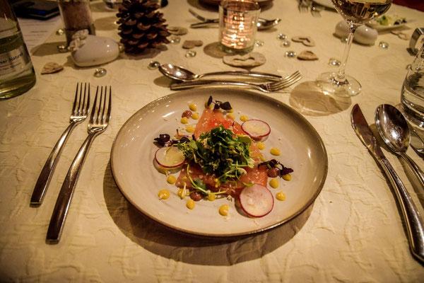 Das Essen im Restaurant Maximillians im Landhotel Hallnberg