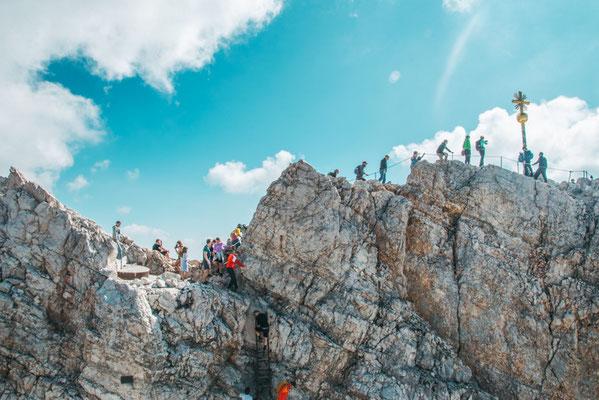 Hochoben auf der Zugspitze
