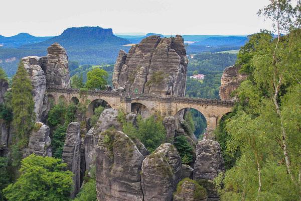 Bastei Brücke in der Sächsischen Schweiz