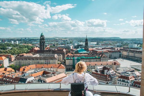 Aussicht von der Frauenkirche In Dresden