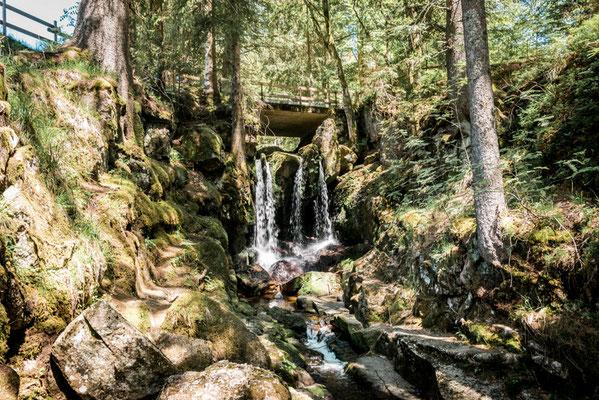 Menzenschwander Wasserfall im Schwarzwald