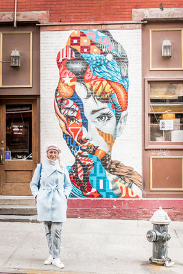 Street Art in New York - Audrey Hepburn