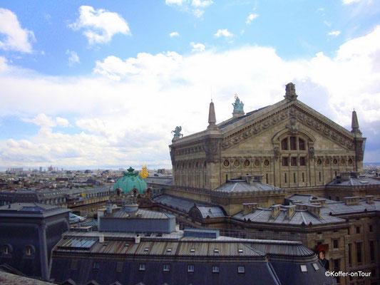 Ausblick von der Dachterrasse Galeria Lafayette