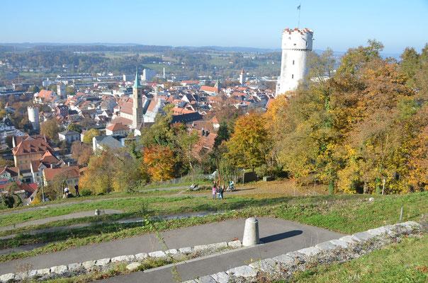 Foto: Dr. Dietmar Hawran, Blick vom Veitsburgplateau Richtung Altstadt