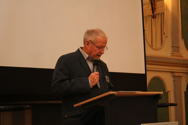 Vorstandsmitglied Volker Petzold beim Vortrag des Tätigkeitsberichts - Bild: Maximilian Dechant